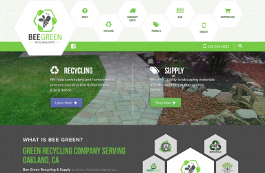 Bee Green Recycling & Supply Website